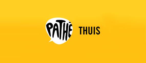Breed Pathé Thuis logo in het geel