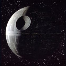 Death Star in de eerste Star Wars-film, A New Hope