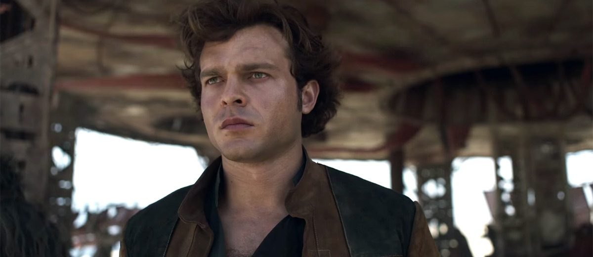 Han Solo gespeeld door Alden Ehrenreich
