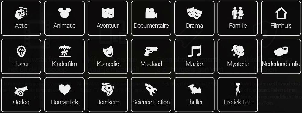 Alle verschillende genres op MovieMax Online