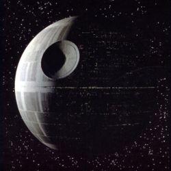 Death Star in de eerste Star Wars-film, A New Hope
